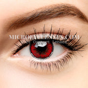 Micro® Eye Cheap Circle Lens Akashi Seijuro Red Cosplay Colored Contact Lenses M0111