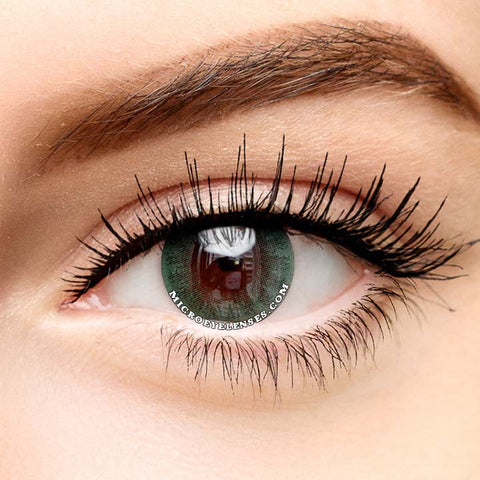Micro® Eye Circle Lens Ice Dew Green Natural Colored Contact Lenses M02292