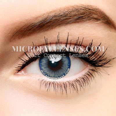 Micro® Eye Circle Lens PRO Droplet Blue Natural Colored Contacts Lens M038