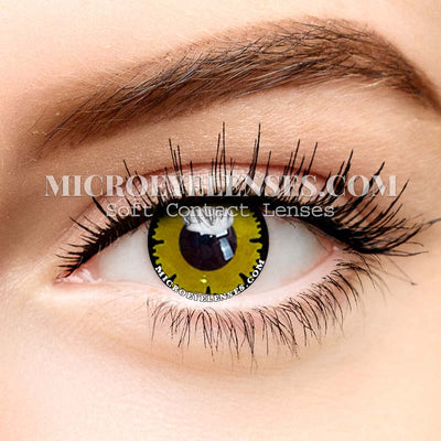Micro® Eye Circle Lens Lace Yellow Cosplay Colored Contacts Lens M0567