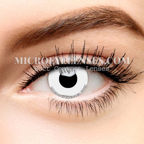 Micro® Eye Circle Lens Pure White Cosplay Colored Contacts Lens M077