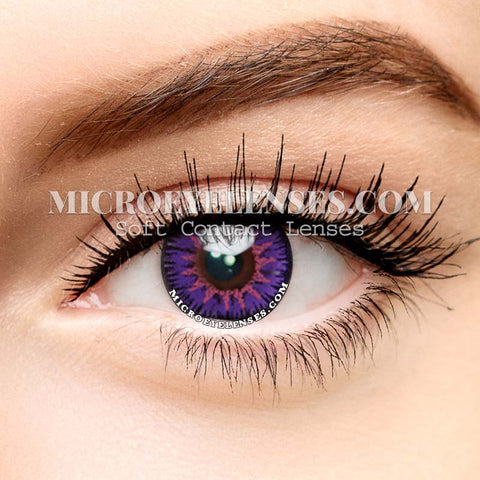 Micro® Eye Circle Lens Single Mystery Purple Cosplay Colored Contacts Lens M0081