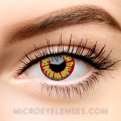 Micro® Eye Circle Lens Flame Red-Yellow Cosplay Wolf Colored Contact Lenses M01875