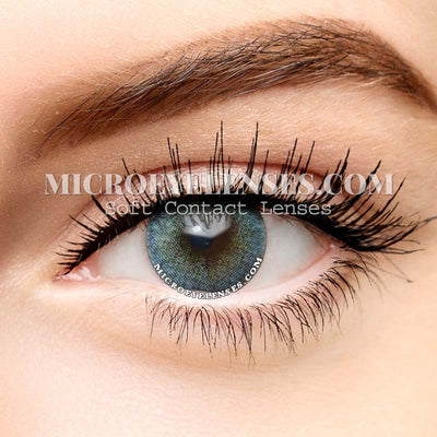 Micro® Soft Eye Circle Lens Toric Euramerican Blue Natural Colored Contact Lenses M0030