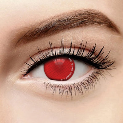 Micro® Eye Circle Lens Red Mesh Cosplay Colored Contact Lens M0408