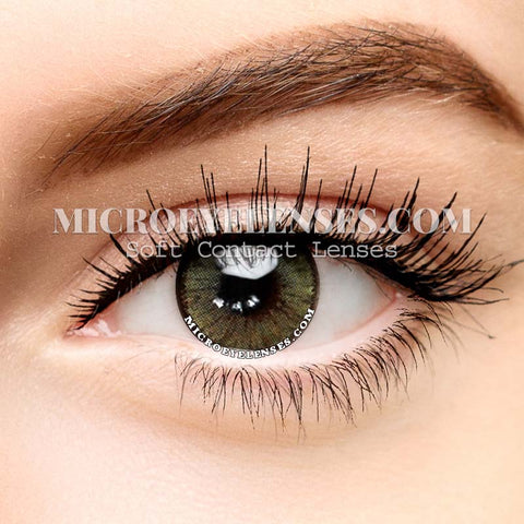 Micro® Eye Circle Lens Polar Lights Yellow Green II Natural Colored Contacts Lens M0722