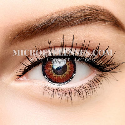 Micro® Eye Circle Lens Ice Snow Red Dream Colored Contacts Lens M0862