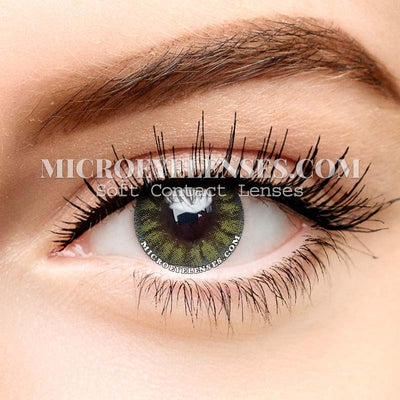 Micro® Soft Eye Circle Lens Glass Ball Green Natural Colored Contact Lenses M0929