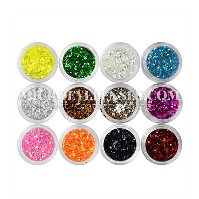 Micro® Eye Circle Lens Microeyelenses Eye Makeup Sequins Plate B02146