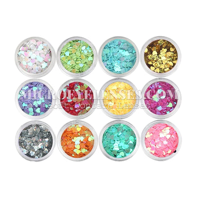 Micro® Eye Circle Lens Microeyelenses Eye Makeup Sequins Solid Love B02145
