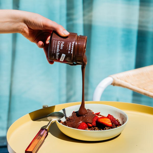 Curb your choccie cravings with our Chocolate and Coconut Paleo Granola Butter