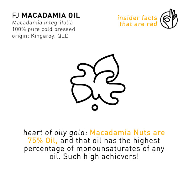 F A C T: INSIDER INFO ON FJ MACADAMIA OIL
