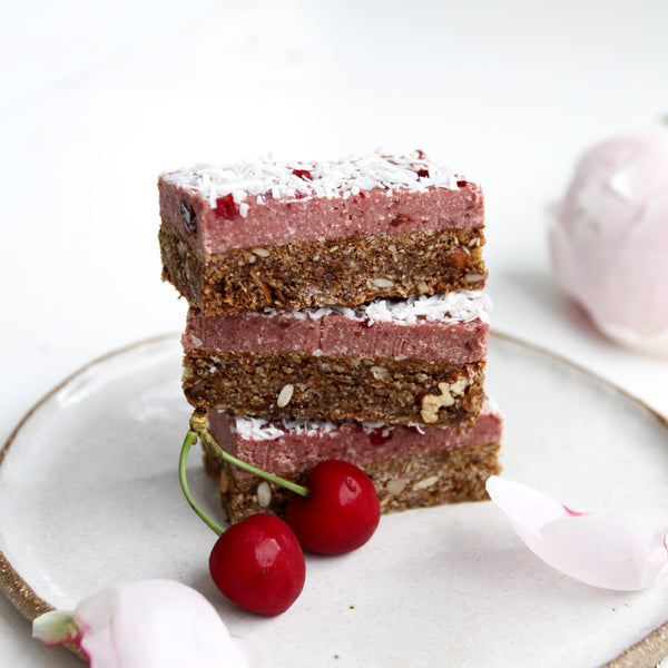 R E C I P E: Christmas Breakfast Cherry Ripe Slice