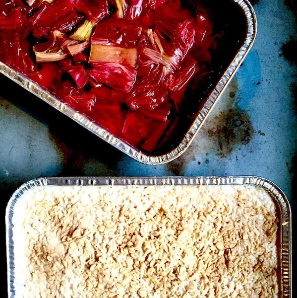 R E C I P E: Porridge Pudding with Baked Rhubarb