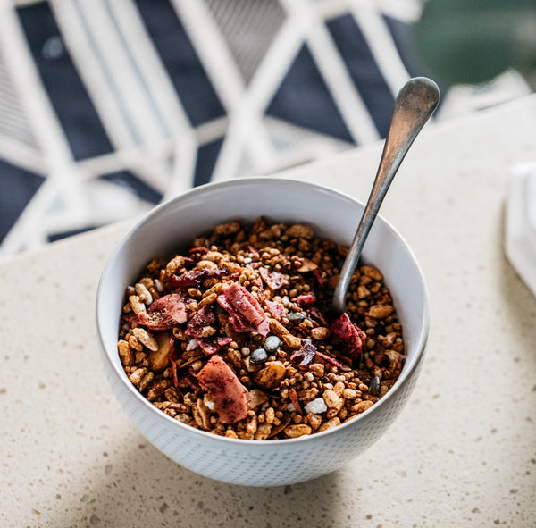 Say G'day to our Sour Plum, Coconut & Macadamia Granola