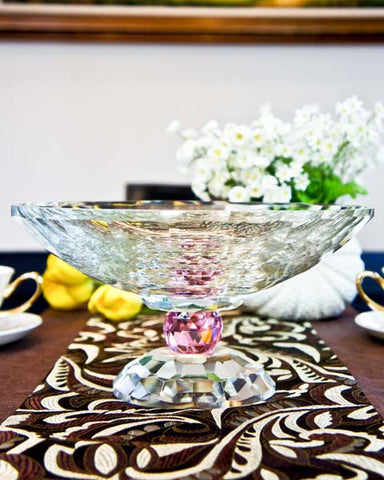 Tina Crystal Bowl - Pink