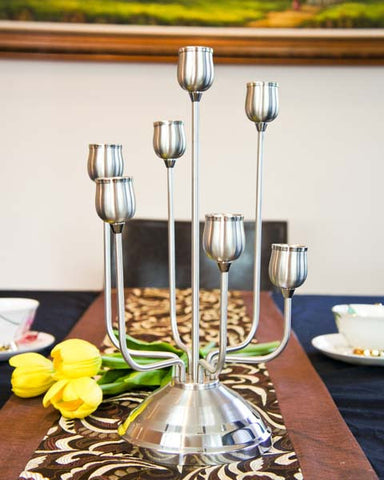 Stainless Steel Candle Holder - 7 Arms