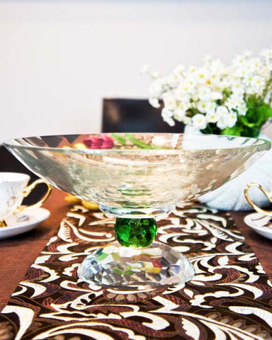 Tina Crystal Bowl - Green