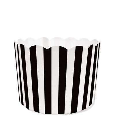 Paper Baking Patty Cups (Pack 50)- Black Stripe