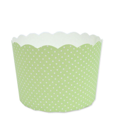 Paper Baking Patty Cups (Pack 50)- Green Spots