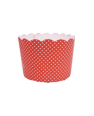 Mini Paper Baking Patty Cups (Pack 50) - Red + White Spots