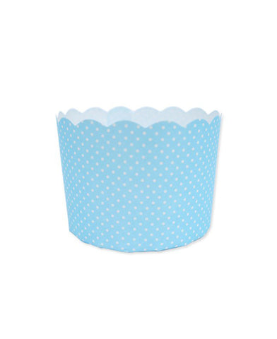 Mini Paper Baking Patty Cups (Pack 50)- Blue + White Spots