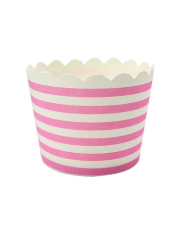 Le Petit Gateau (Pack 25) - Pink + White Stripes