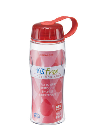 Lock & Lock BPA Free Waterdrop Bottle 500ML (Red)