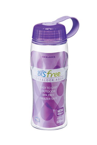 Lock & Lock BPA Free Waterdrop Bottle 500ML (Violet)