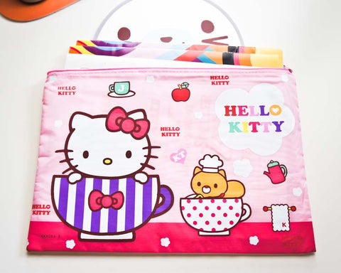 Hello Kitty in A Cup Document / Pencil Case - Large