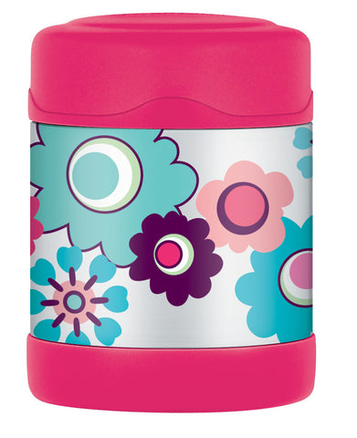 Thermos 290mL St/Steel Vacuum Insulated Food Jar - Flower