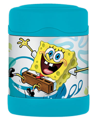 Thermos 290mL St/Steel Vacuum Insulated Food Jar - Sponge Bob