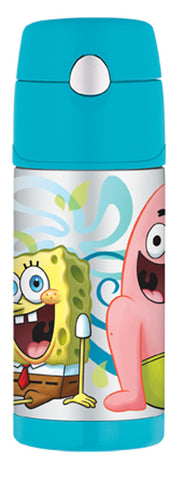 Thermos 355mL St/Steel Vacuum Insulated Drink Bottle - Sponge Bob