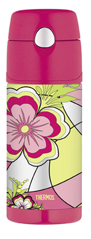 Thermos 355mL Funtainer St/Steel Vacuum Insulated Drink Bottle - Mod Floral