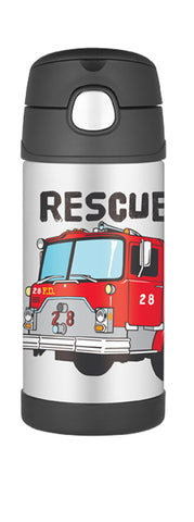 Thermos 355mL St/Steel Vacuum Insulated Drink Bottle - Firetruck