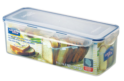 Lock & Lock Loaf(Long) Bread Box 5.0L W/Divider