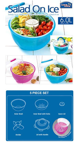 Lock & Lock Salad To Go 6.0L - Blue