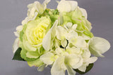Hydrangea + Rose Flower Bouquet - Green