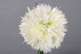 Single Stem Shallot Flower Ball - White