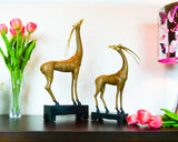 Natural Bonding Deer Statues - Set of 2