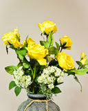 Rose Flower Combination Bouquet - Yellow