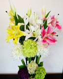 Shallot Ball + Lily Flower Bouquet