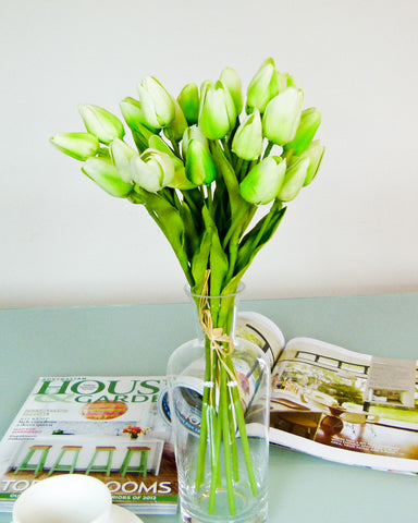 Small Tulip Flower Bouquet - Green