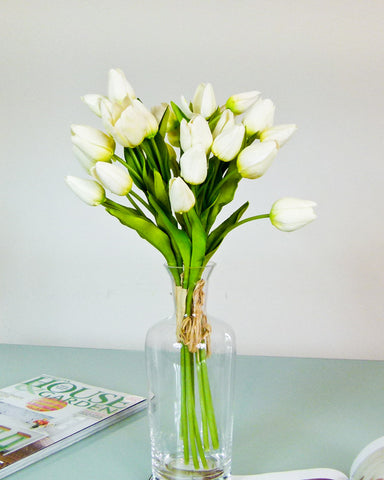 Small Tulip Flower Bouquet - White