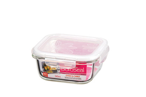 Lock & Lock Boroseal Square Oven-Safe Glass Container 300ML