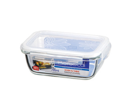 Lock & Lock Boroseal Rectangular Oven-Safe Glass Container 730ML