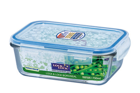 Lock & Lock Boroseal Rectangular Oven-Safe Glass Container 750ML