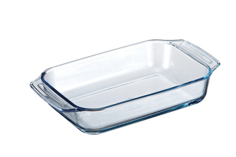 Lock & Lock Borosilicate Rectangular Glass Pan (Oven-Safe) 2.5L