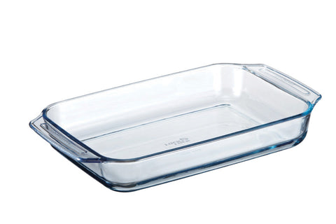 Lock & Lock Borosilicate Rectangular Glass Pan (Oven-Safe) 3.3L