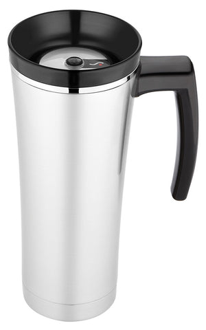 Thermos 470mL Double Wall St/Steel Vacuum Insulated Travel Mug - Black Trim